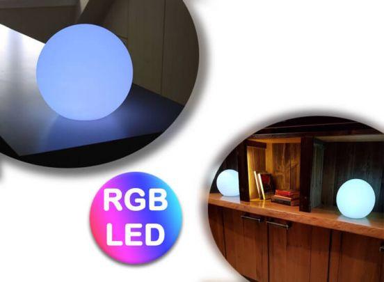 Ronde draadloze ledlamp -  Diameter 25 cm - Met afstandsbediening