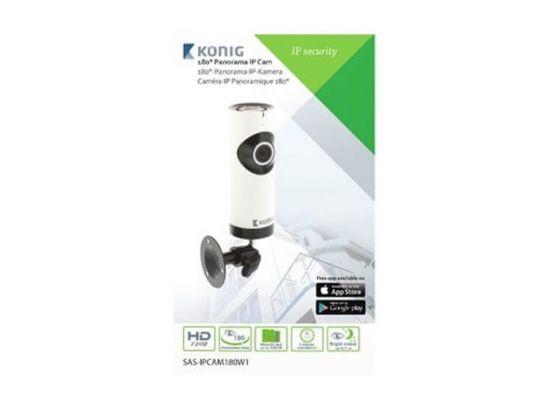 König HD IP-panorama camera - 1280x 720 - Uitgerust met een fisheye-lens