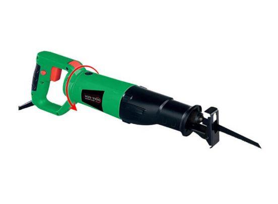 Hofftech Reciprozaag 115mm 710W - Met draaibaar handvat voor gips, hout en metaal