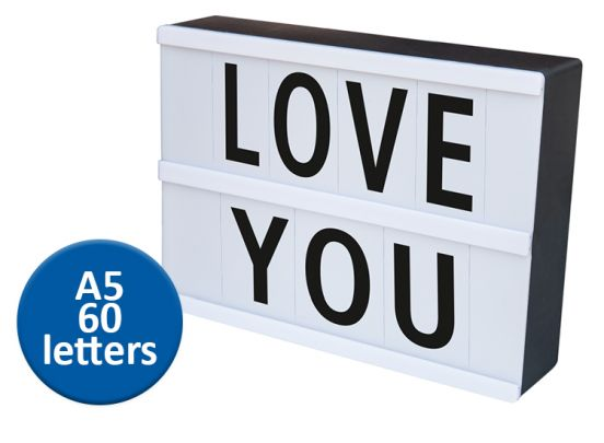Led licht box - Maak je eigen teksten met deze leuke lightbox