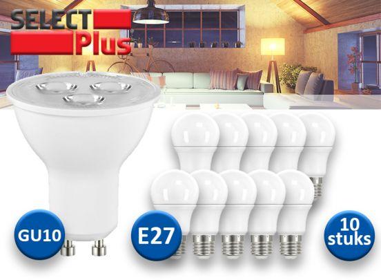 Select Plus LED Lampen - 10 Stuks - E27 of GU10