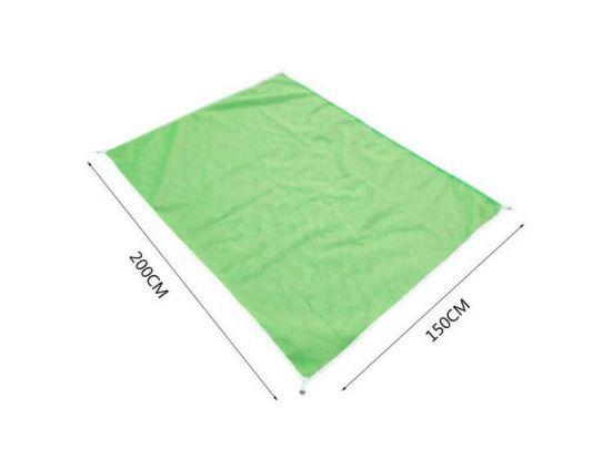 Groene strandmat - Nooit meer zand op je handdoek