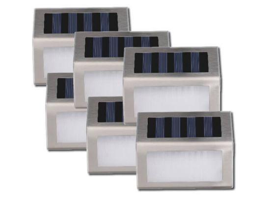 Solar led buitenlampjes met nachtsensor - 6 stuks