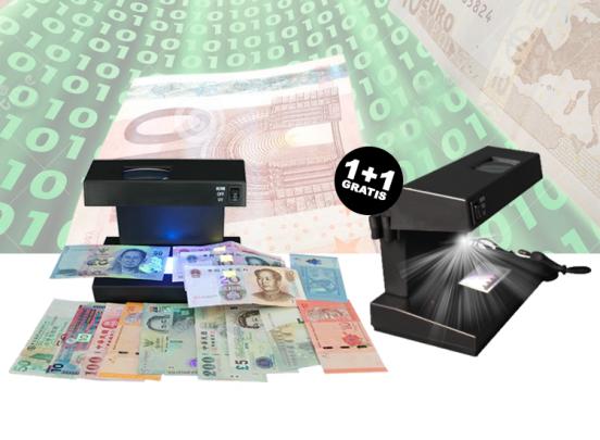 Elektronische geld tester 1+1 Gratis