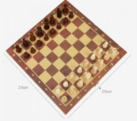 Fedec Magnetische Schaakset - 29x29 - Hout