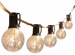 FlinQ Solar LED String Light - Lichtslinger Op Zonne-energie - 8 meter - 10 lampjes - Zonnelichten