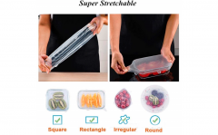 Herbruikbare siliconen deksels voor blikken, kannen en potten - 6-delige set