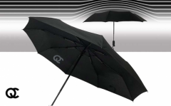 FlinQ Stormparaplu - Windbestendig tot 120 km/h - Zwart - Uitschuifbaar
