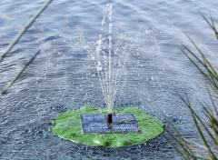Solar fonteinpomp drijvend lotusblad