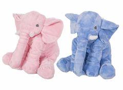 Olifant XL knuffel - keuze uit roze of blauw