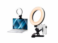 Fedec 6 Inch Ringlicht - Met Bevestigingsklem - Dimbaar