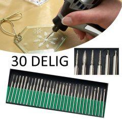 30-Delige Multitool accessoireset Frezensets (Geschikt Voor o.a. Multitool)