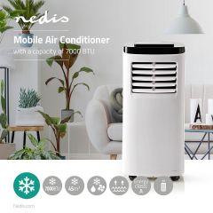 Nedis Mobiele airconditioning - Airco - 7000 BTU - Energieklasse A - Afstandsbediening - Timerfunctie