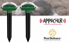 Appacher Ultrasone Mollenverjager - Milieu en Diervriendelijk - 2 stuks