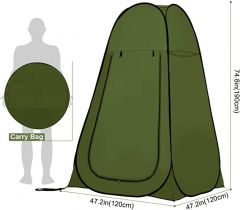 Pop-up 1-Persoons Tent - Groen - 176 x 92 x 92cm