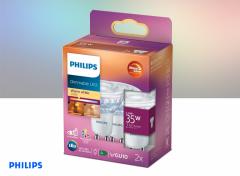 Philips LED Spot - GU10 - 35W - Dimbaar - Warm Wit Licht - 2 stuks