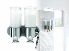 Simplehuman RVS Zeepdispenser - Wand Duo - 22,6x9,4x24,5cm - Zilver