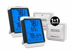 Digitale thermometer en hygrometer - Voor binnen en buiten 1+1 Gratis