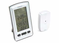 Omega Draadloos Weerstation - Binnen/Buitentemperatuur - Weersvooorspelling