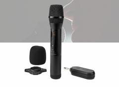 Nedis Draadloze microfoon | 20 kanalen | 1 microfoon | 10 uur gebruikstijd | Ontvanger | Zwart