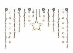 Kerststerrengordijn - 90 LED's - Inclusief Grote Ster