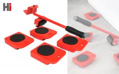Multifunctionele Verplaatshulp - Meubeltransportwielen - Meubelheffer - Rood