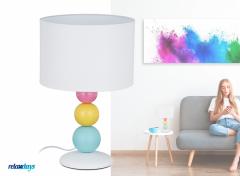 Relaxdays tafellamp - E14 - Nachtlamp - Bureaulamp - Schemerlamp