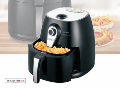 Royalty Line hetelucht friteuse Deluxe- 3 Liter - Zwart - 1400W