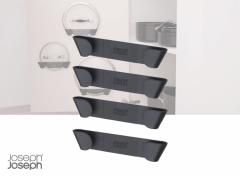 Joseph Joseph CupboardStore Keukenkast Organiser Pannendekselhouder - Kunststof - Set van 4 Stuks - Grijs