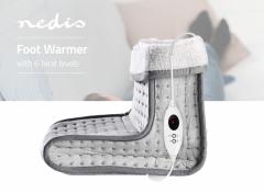 Nedis Voetenwarmer | 6 Verwarmingsstanden | Wasbaar