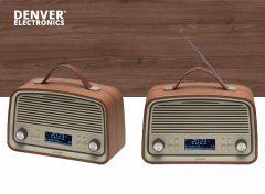 Denver DAB-38 -DAB+/FM radio met alarmklok functie - Darkwood