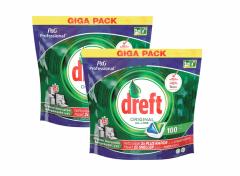 DREFT All in One Vaatwastabletten Original 100 tabs - 2 stuks