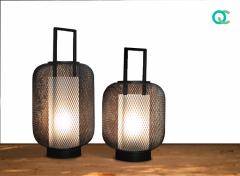 FlinQ LED lantaarn - set van 2 maten - zwart - stijlvol