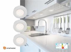 Smartwares LED kastverlichting - 3 stuks - Met sensor