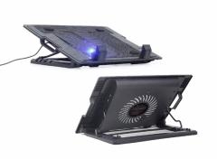"Gembird laptopstandaard 17"" verstelbaar met koeling"