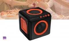 AudioCube bluetooth speaker voor thuis - Oranje/Zwart