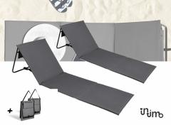 Intimo Lig-Strandmatten Grijs (2-pack)