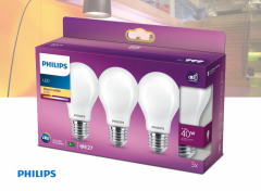 Philips LED Lamp - E27 Mat - 40W - Warm Wit Licht - 3 stuks