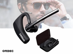 Bluetooth Headset met Accu en Oplaadcase - Perfect om handsfree te bellen