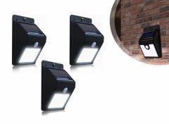Bellson Solar LED Buitenlampjes met bewegingssensor - 3 stuks
