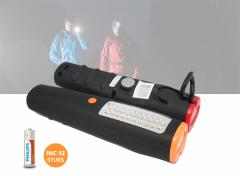 2 Led looplampen + 12 Philips Longlife AA batterijen