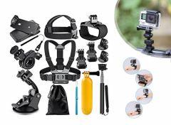 Action Camera Accesoireset - 12 in 1 - Geschikt voor alle Go Pro Camera's