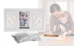 Fotolijst baby met kleiafdruk - 2 kleiafdrukken & 1 foto