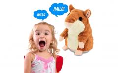 Pratende hamster knuffel - Bruin