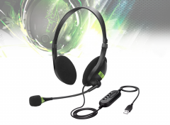 Noisecanceling Computer Headset - Met USB-kabel