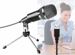 USB Microfoon - Inclusief standaard, plopkap en USB