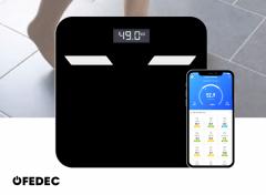 Fedec Slimme Weegschaal - Bluetooth