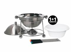 Chafing Dish warmhoudbak -  RVS - 37cm 1+1 Gratis