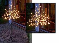 Led lichtboom met kersenbloesem - 180 verlichte bloesems met warm-wit licht