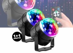 Discolamp met afstandsbediening - Leuke lamp voor feestjes en partijen 1+1 Gratis
